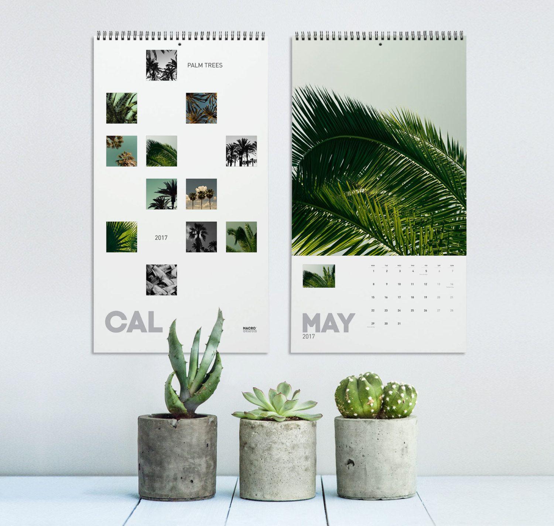 Palm Tree Wall Decor palm tree calendar 2017, tropical calendar, nature photography