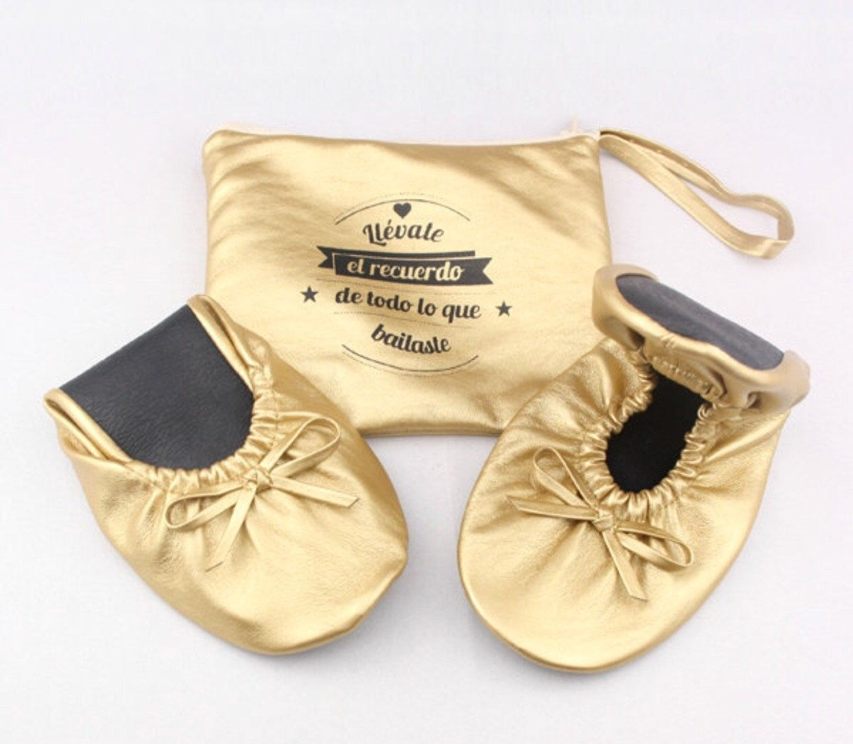 Personalized Rollable Flats Wedding For Guest Foldable Ballet Shoes Favor Roll Up