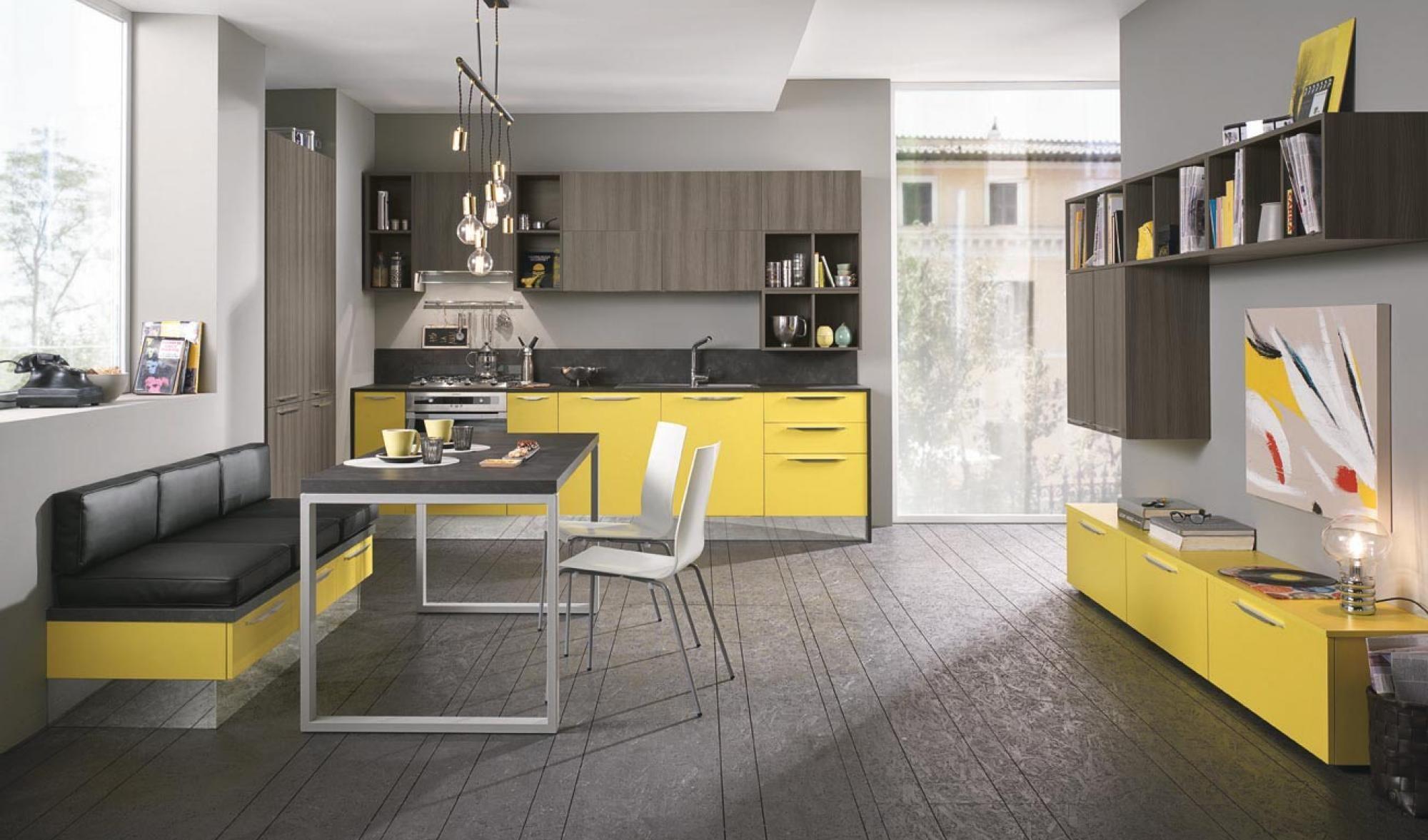 Schön Quadra Kitchen | 2015 Edition | Yellow | Colombini Casa