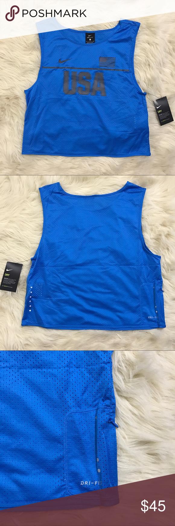 ⚡️Nike USA dri-fit top Nike running USA dri-fit mesh ...