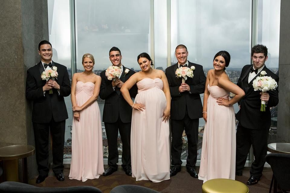 Uneven Bridal Party Cuties Bridal Party Photos Pregnant Bridesmaid Bridal Party