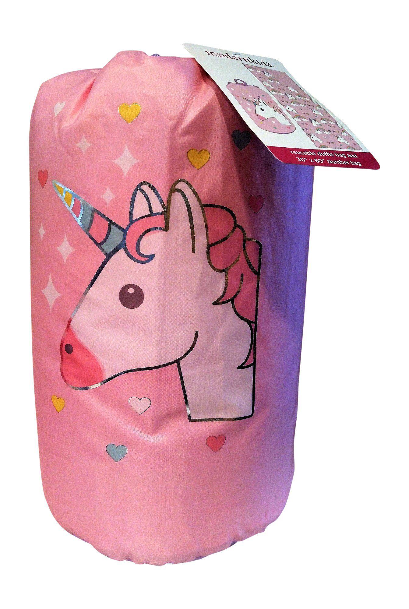 Modern Kids Unicorn Slumber Duffle Set Bag And 60 X