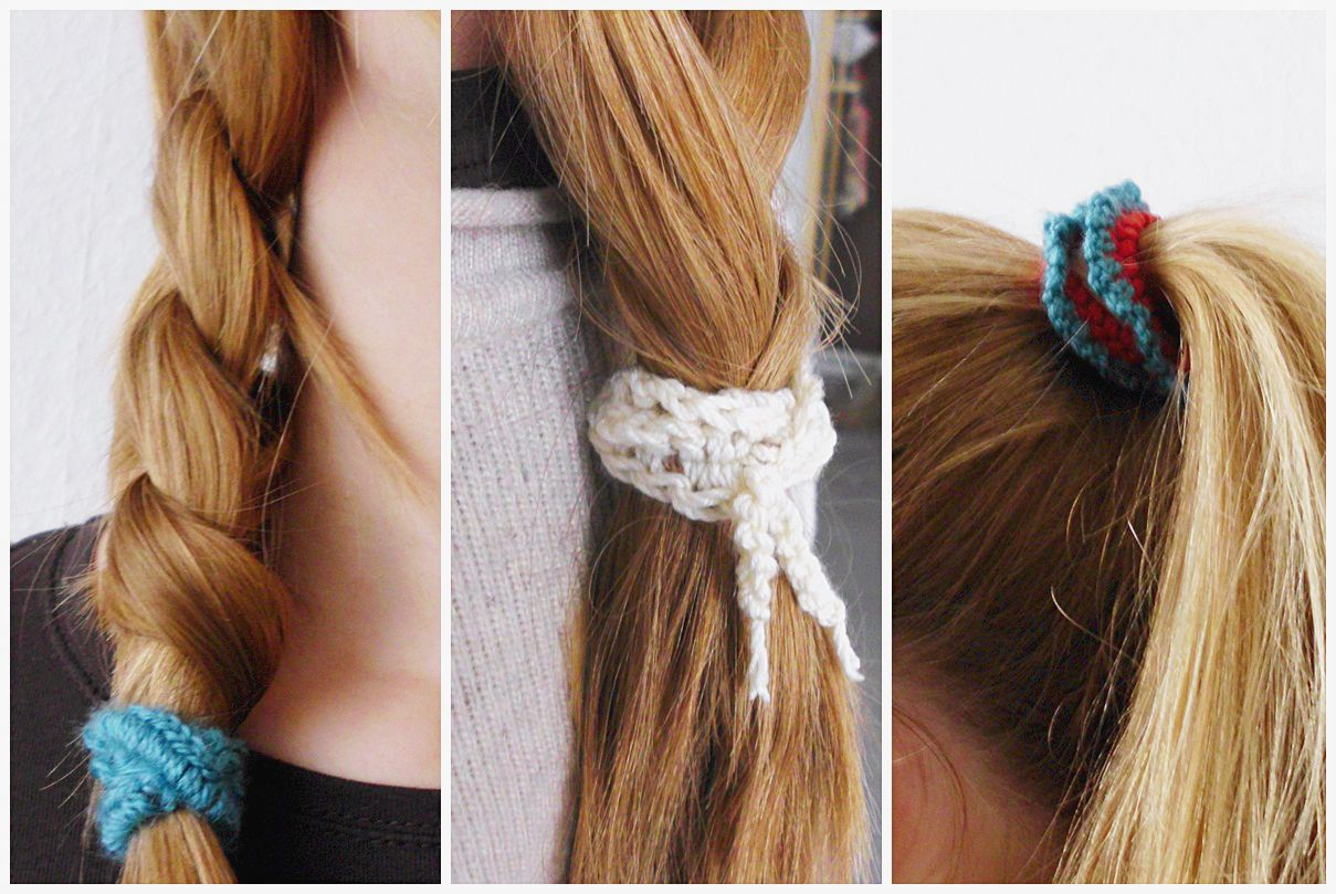 Curious and Catcat: DIY Crocheted Hair Ties