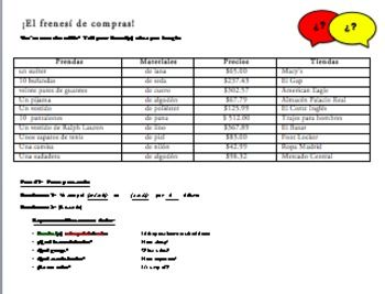 Realidades 1 Tema 7a 3 Tiered Clothing And Numbers Speaking