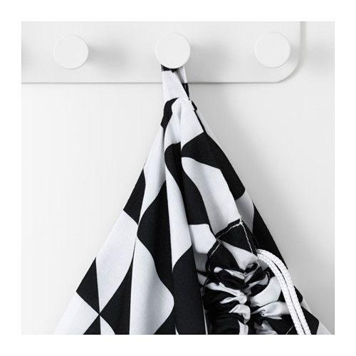 Ikea Wäschesack snajda wäschesack schwarz weiß laundry and ikea hack
