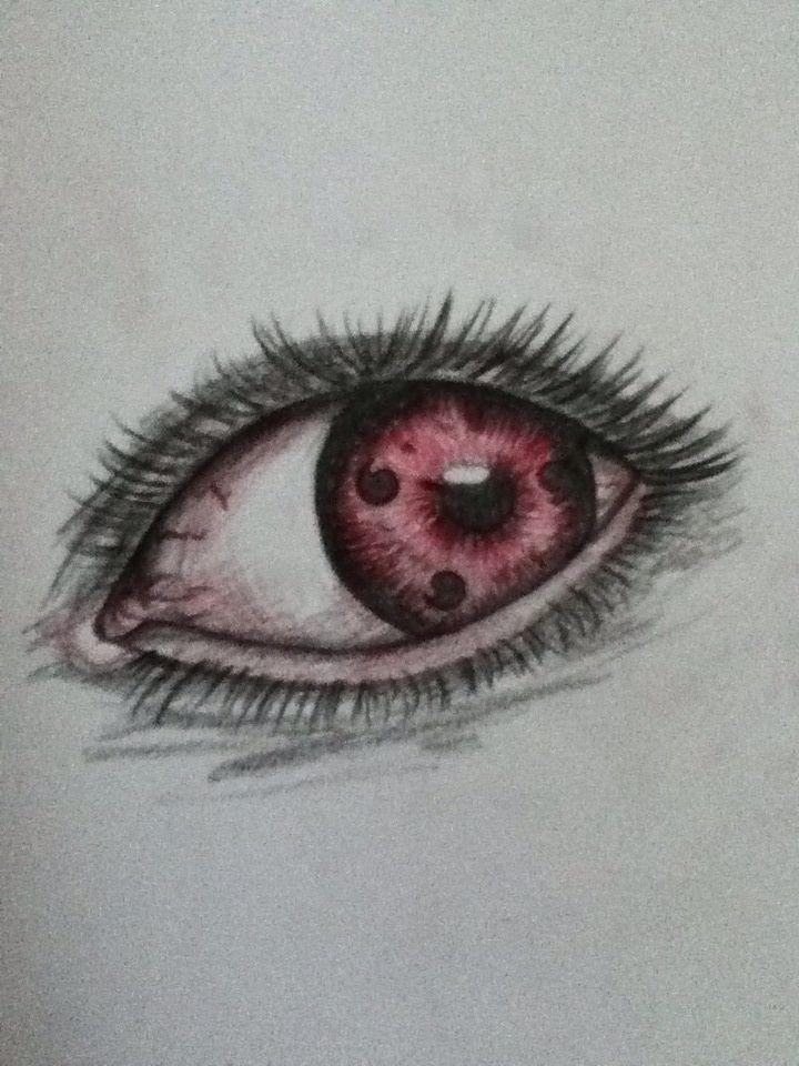 Sharingan Realistic Take On The Eyes From Naruto Olhos Desenho