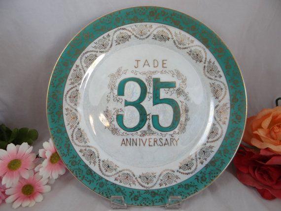Vintage 35th Jade Wedding Anniversary Norcrest Fine China Porcelain