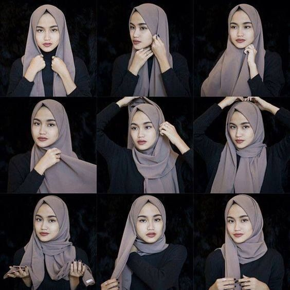 Simple Everyday Hijab Tutorial Hijab Fashion Inspiration Hijab Style Tutorial Hijab Style Casual Hijab Tutorial
