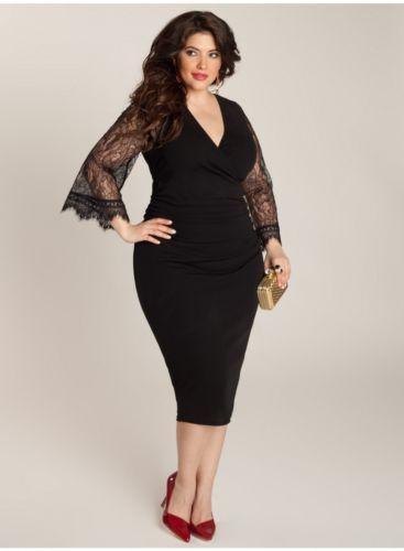 a8289ffc3dc Sexy Plus Size Designer Igigi Paola Dress 18 20W Black Slinky