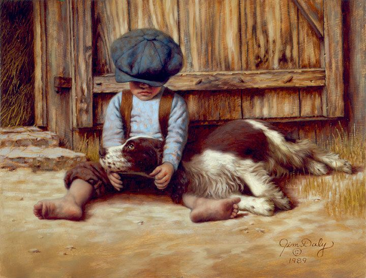 In the doghouse 1989 by american artist jim daly
