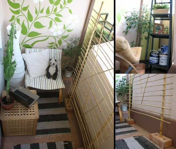 Cooler Kleiner Balkon U2013 40 Kreative Und Praktische Ideen   Kleine Terrasse  Ideen Außenmöbel Asienstil Kakteen