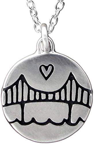 Photo of Genießen Sie exklusiv für Sterling Silber Golden Gate Bridge Halskette 18 Zoll 925 Kette Frauen Mädchen online – Mimafashionstylish