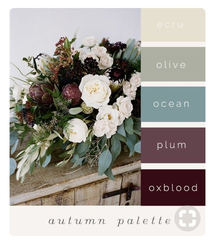 Fall Vintage Wedding Ideas: Dusty Blue, Deep Plum, Cream, And Greenery
