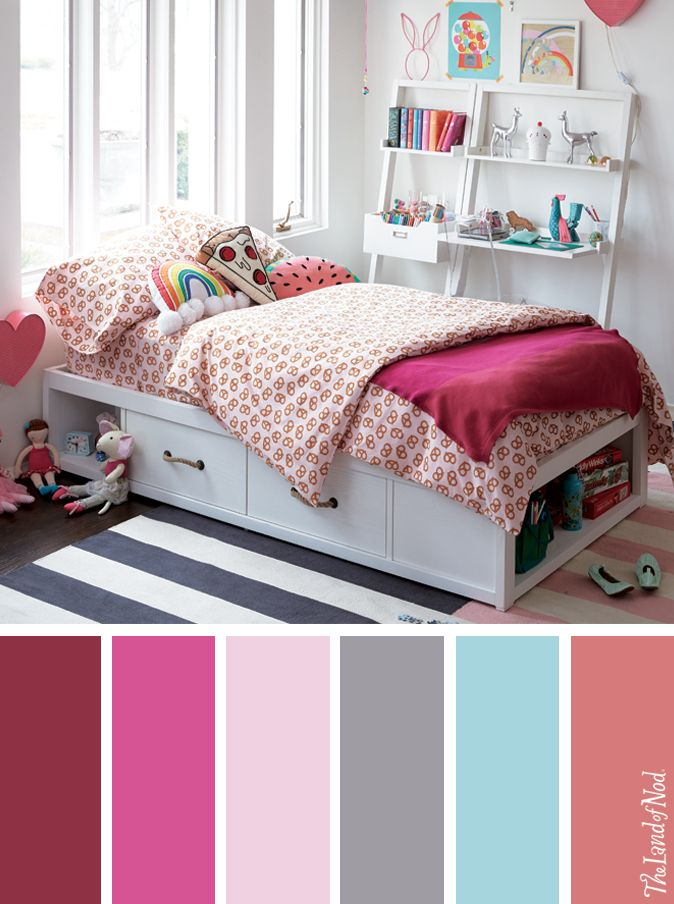 Searching for girls bedroom ideas? The Land of Nod has tons of