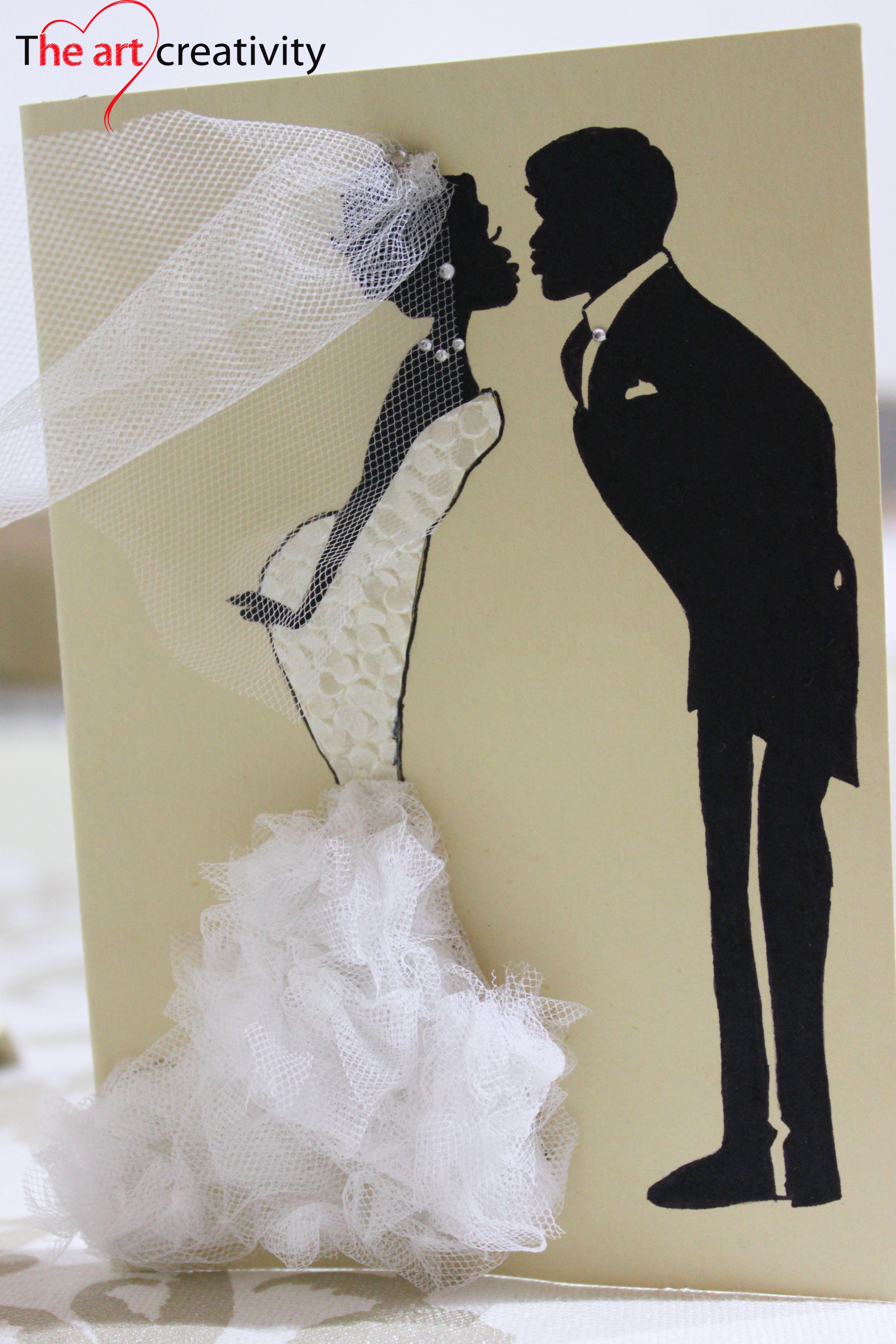 Tantissimi Auguri Matrimonio : Auguri sposi biglietto di con wedding tulle