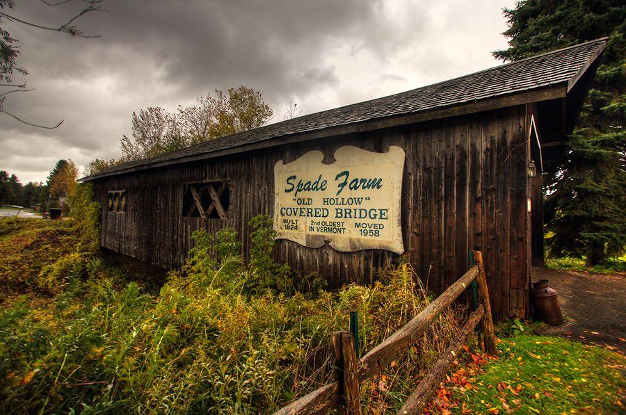 Kissing Bridge Vermont Spade Farm Cover...