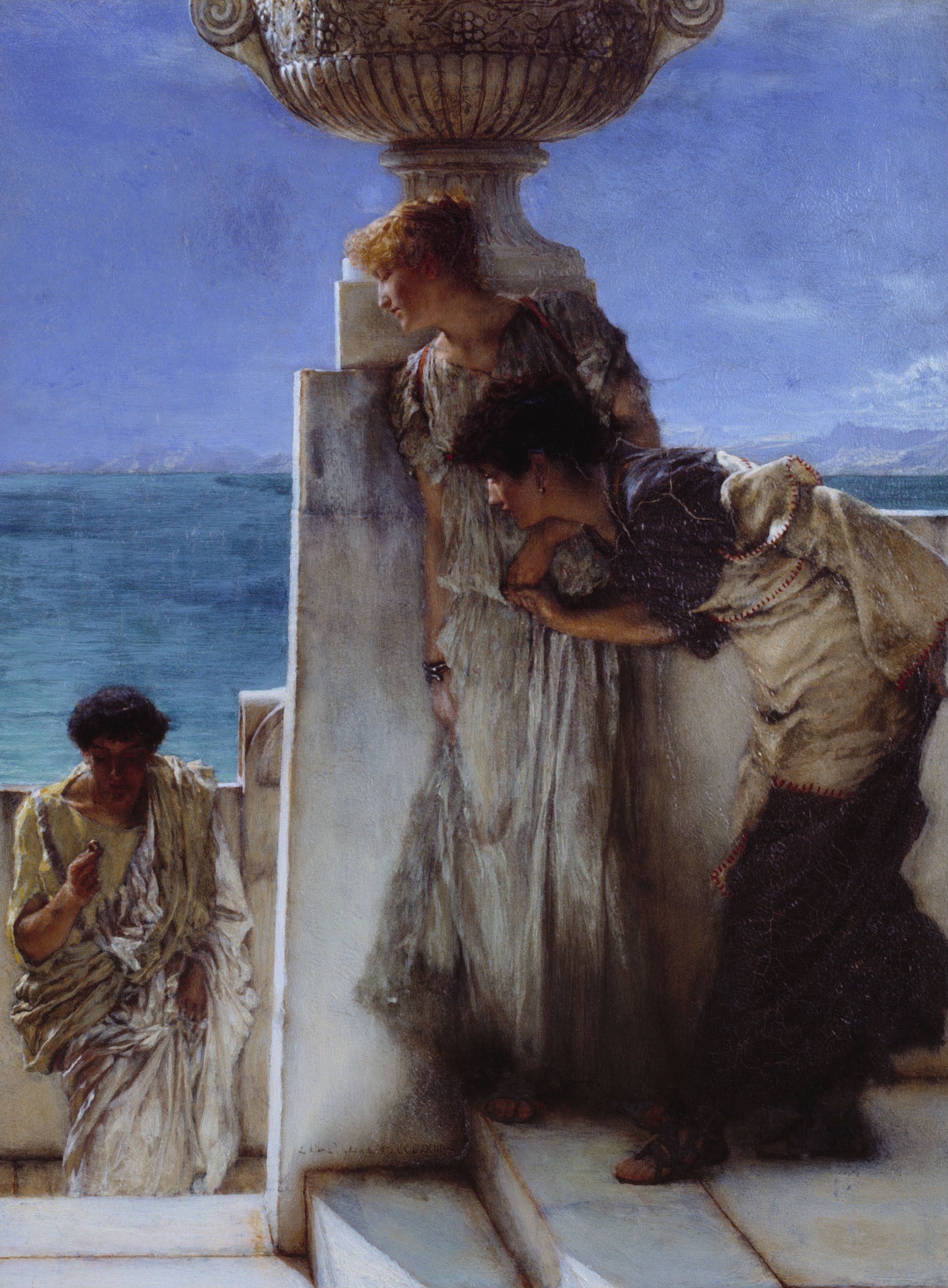 """ Foregone Conclusion"" Artist Sir Lawrence Alma-tadema Completion Date 1885 Paintings In"