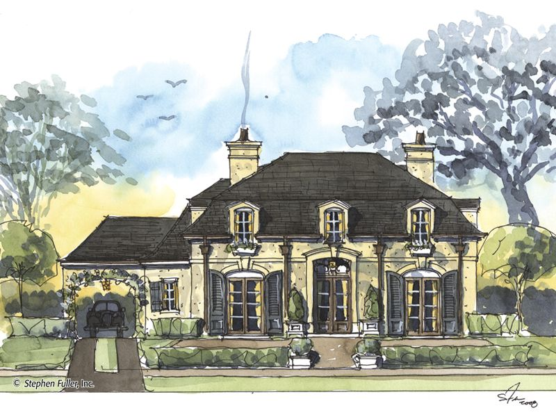 House Plan Marlowe Stephen Fuller Inc French Country House Plans House Plans European House Plans