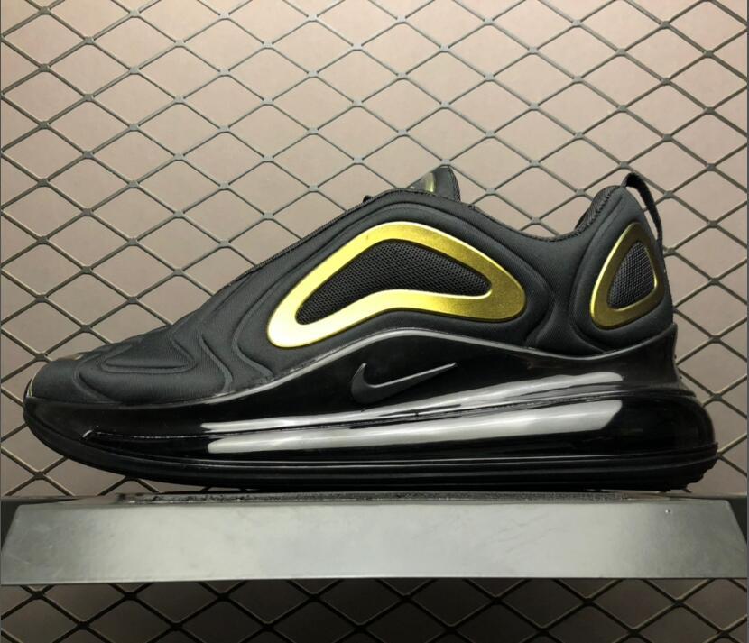 Mens Nike Air Max 720 Black Gold AQ2924 011 | Nike air, Nike