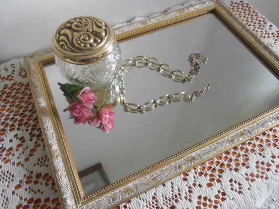Vanity Tray French Country Gold And White Syroco By Primetimer Vanity Tray Gold Lid French Country