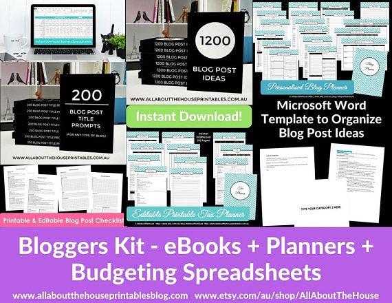 Blog Post Planner Organizer Tool Template Resource Download Ebook