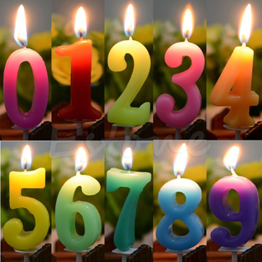 Cake Numbers Age Candle Kids Baby Birthday Anniversary Party Supplies Decoration