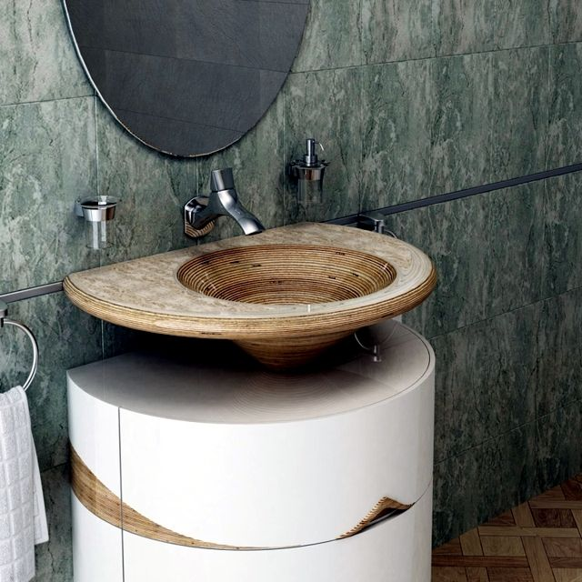 15 Wooden Sink That are Eye Catcher in Every Bathroom | baie | Pinterest