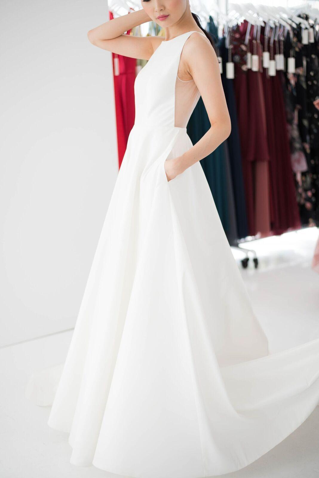 Back detail wedding dress  Jenny Yoo Bridal  uAshtonu Bridal Gown  Illusion Panel v