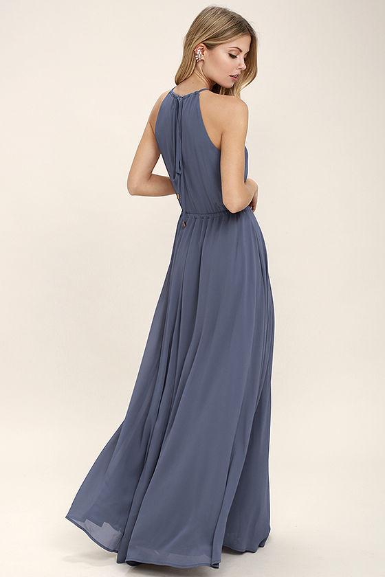 Kleid dusty blue