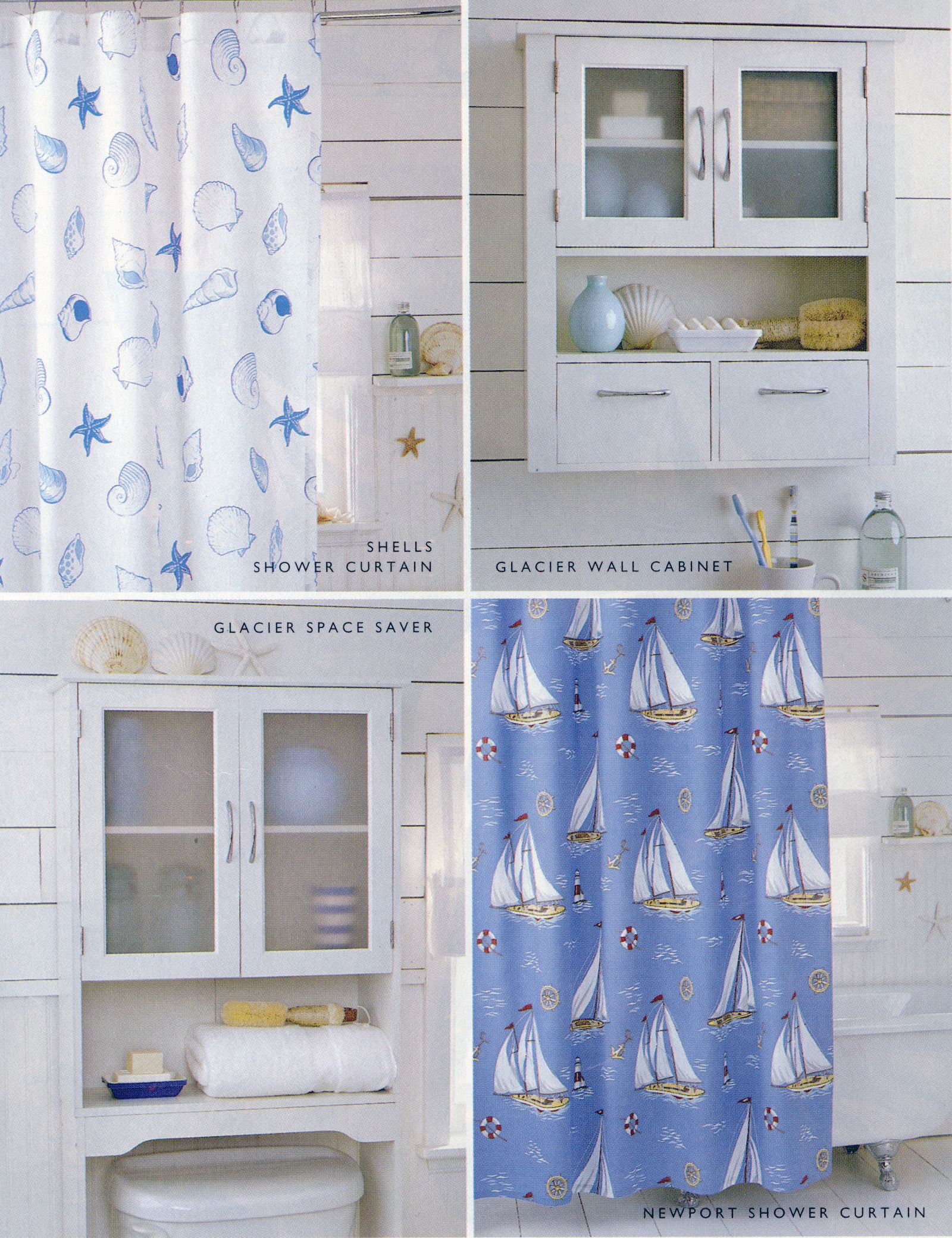 Nautical themed bathroom accessories, including Newport shower ...