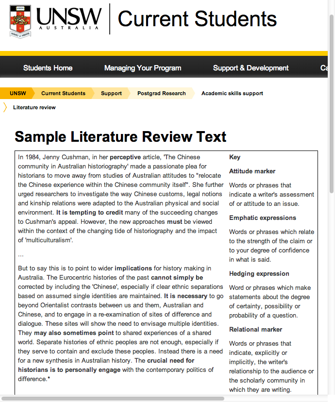 Sample Literature Review Text  Fashioning Research