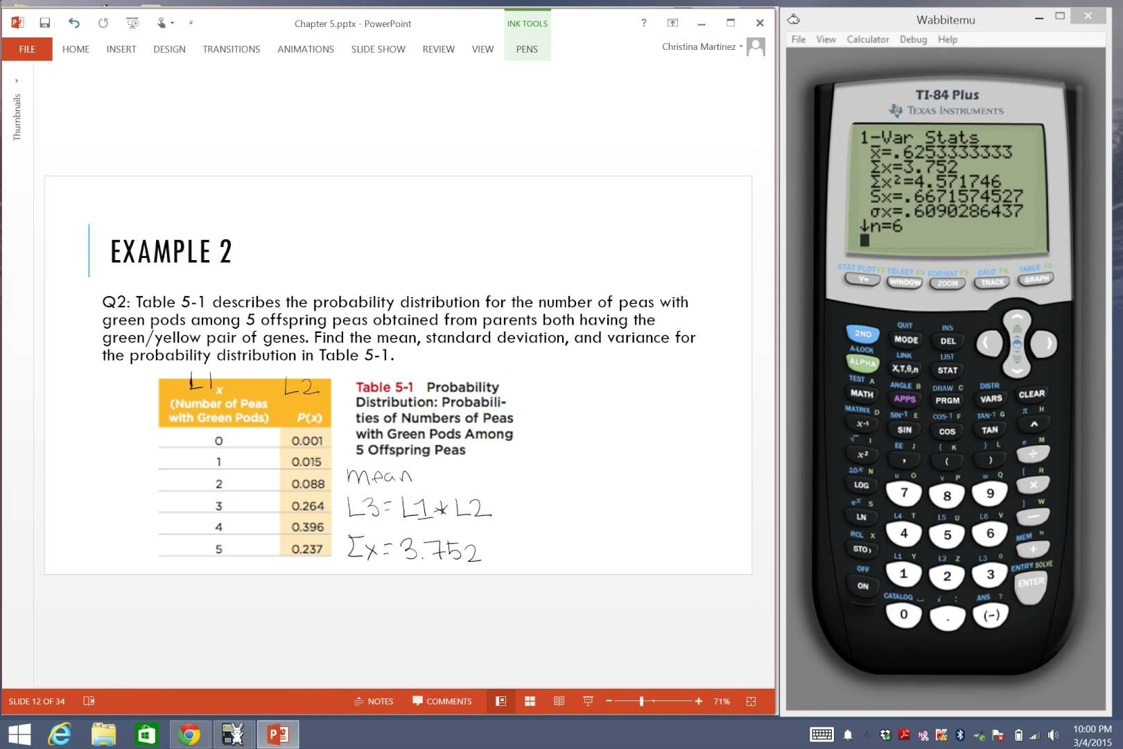 Mean Variance And Standard Deviation Of A Probabaility Distribution Standard Deviation Graphing Calculator Distribution
