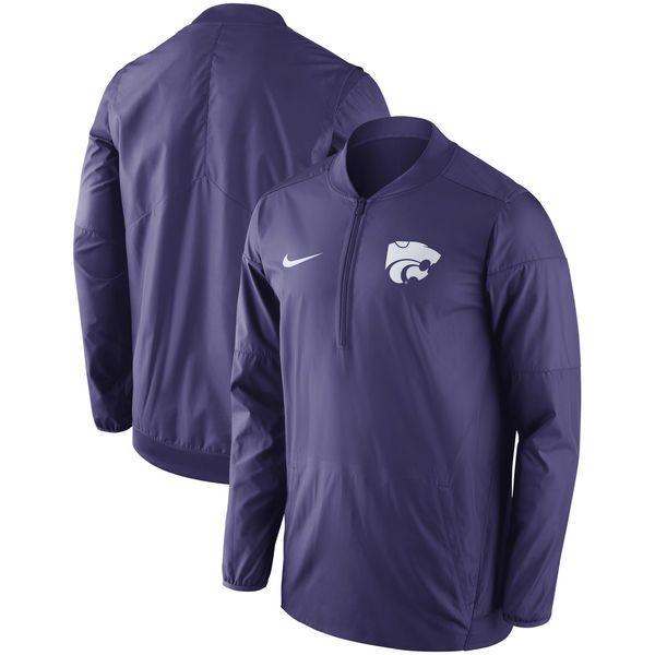 Kansas State Wildcats Nike Sideline Lockdown Performance QuarterZip Jacket   Purple  7499