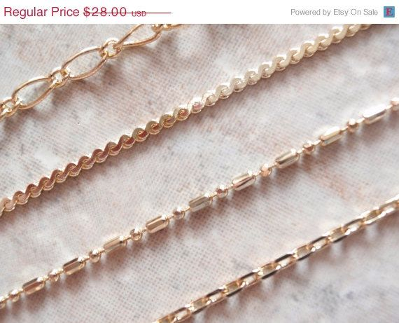 CLEARANCE SALE Avon Chain Bracelets Gold Tone Set by cutterstone, $22.40