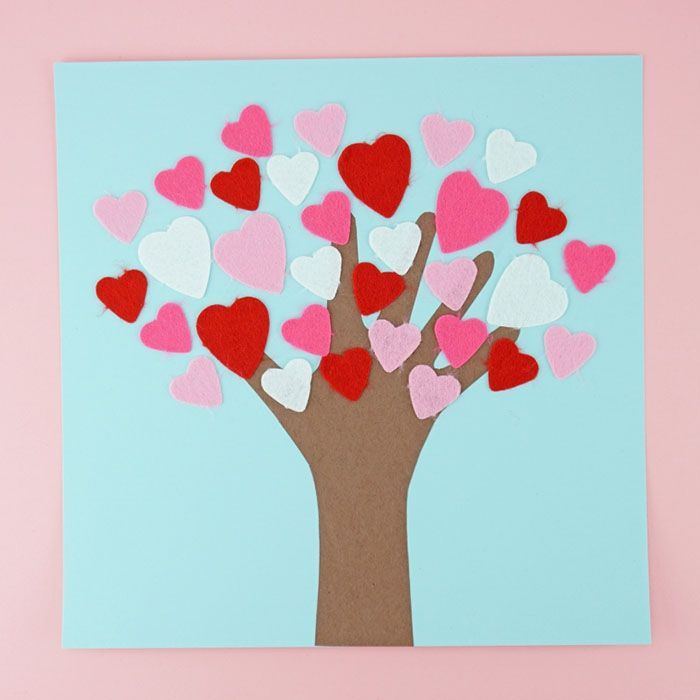 How to Make a Valentine's Day Tree Craft