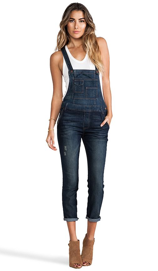 Free People Overall in Brady Wash   REVOLVE