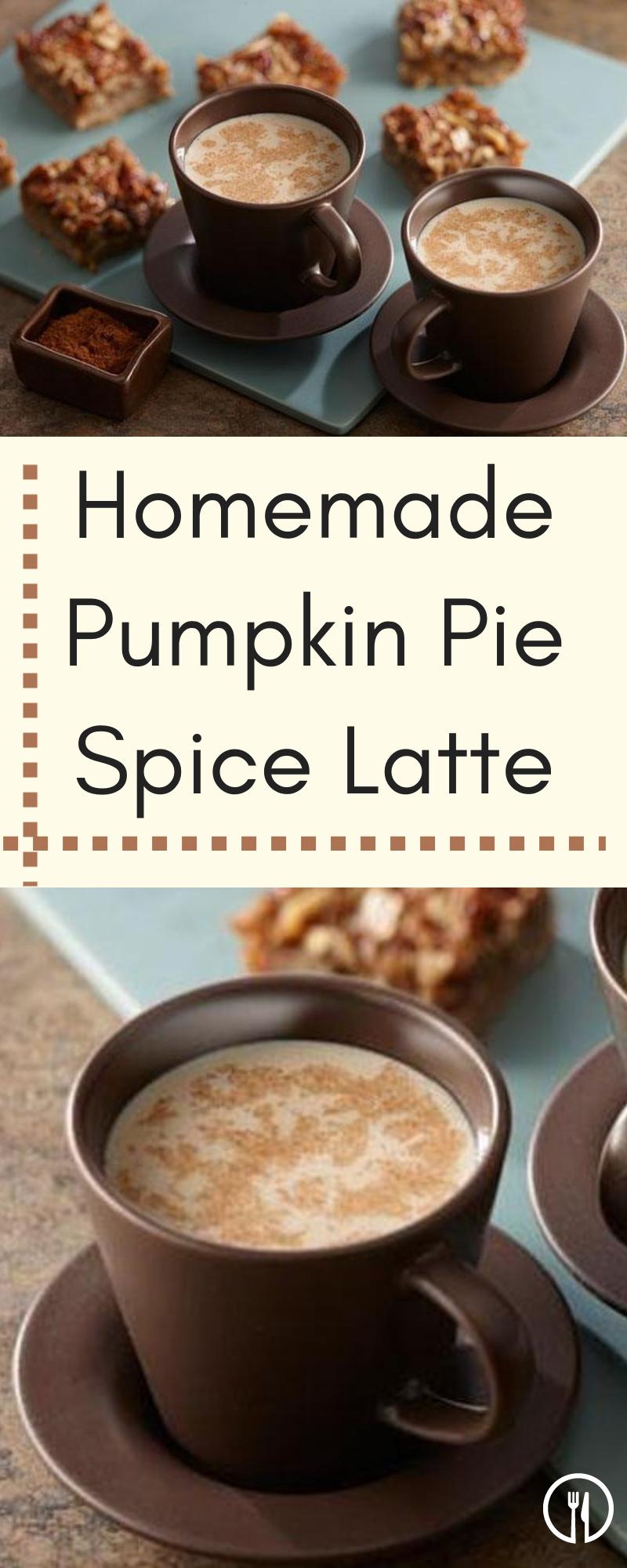 Homemade Pumpkin Pie Spice Latte Recipe Homemade
