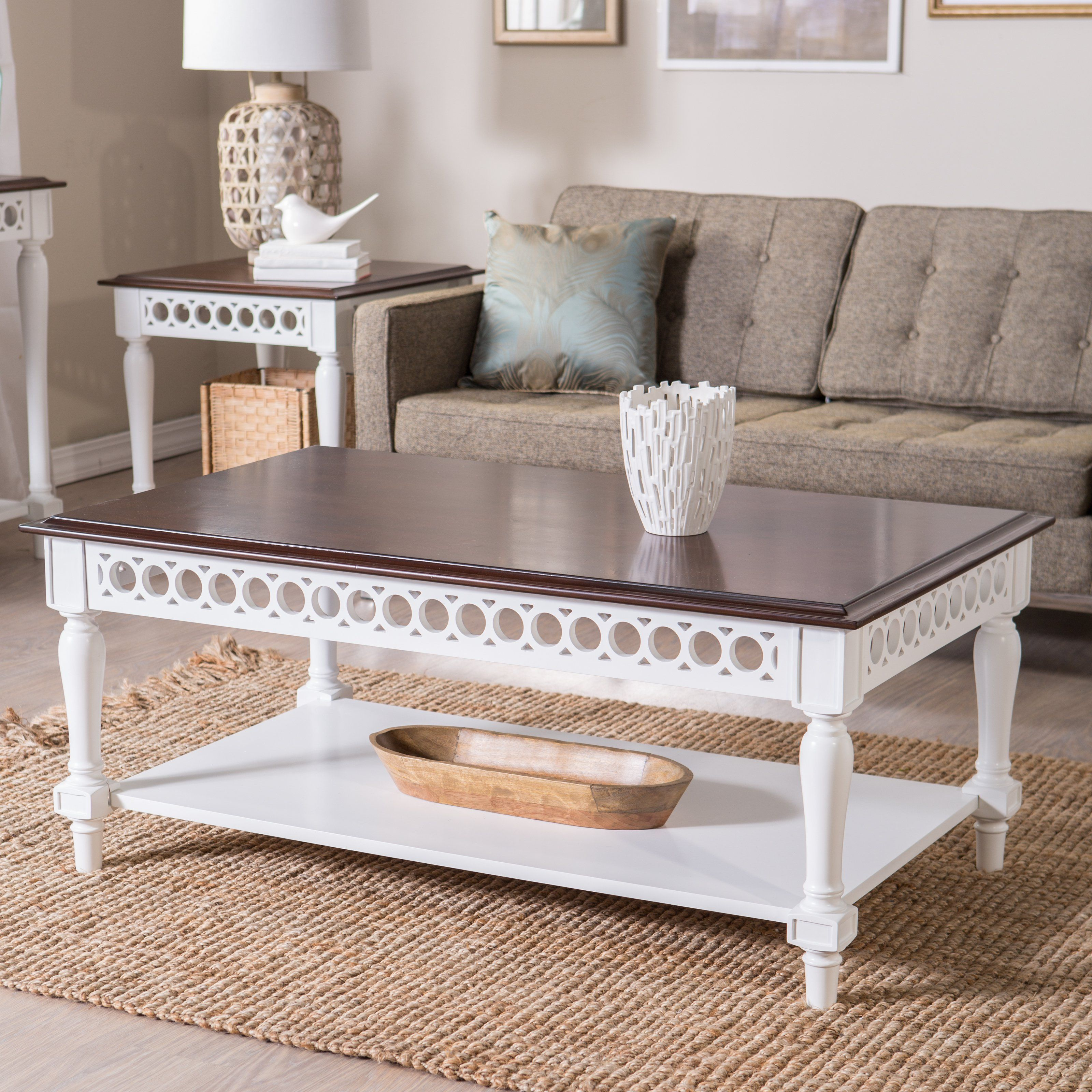 This Antique Style Coffee Table Has 2 Smoothly Running Drawers Which Provide Ample Storage E For Your Personal Belongings And Will Help Keep Room