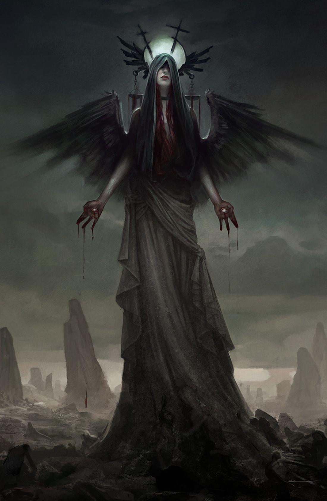 Angeles Goticos Fantasia Fantasy Gothic Angels Arte De Fantasia Oscura Criaturas Oscuras Arte De Sirenas