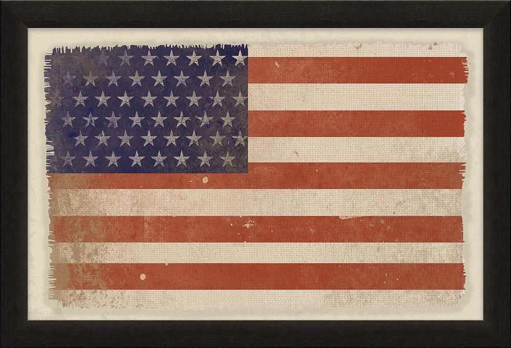 American Flag-Natural Canvas-Patriotic Christian Art | Flags ...