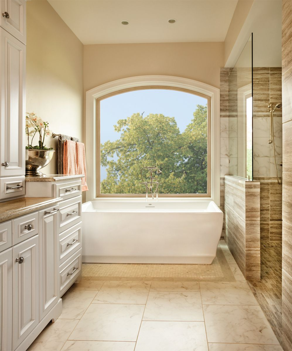 Perfect for the second floor, this radius window is a large