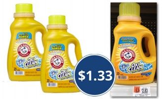 3 00 Coupon Arm Hammer Laundry Detergent Only 1 33 At