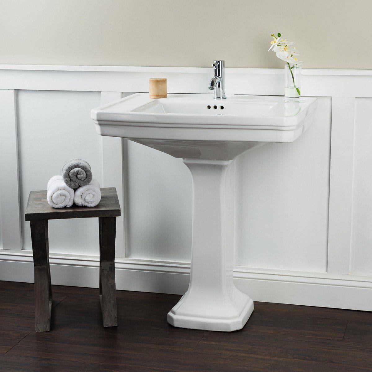 30 Inch Pedestal Sink With Images Pedestal Sink Bathroom