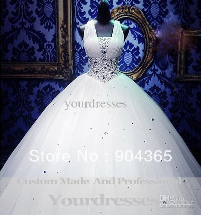 Plus Size Cinderella Wedding Dresses Royal Puffy White Straps Corset Ball Gown