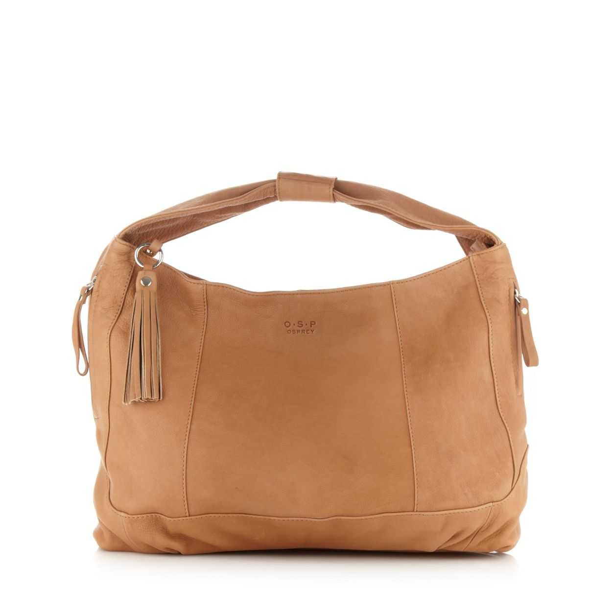 O.S.P OSPREY Tan large soft leather hobo bag- at Debenhams.com