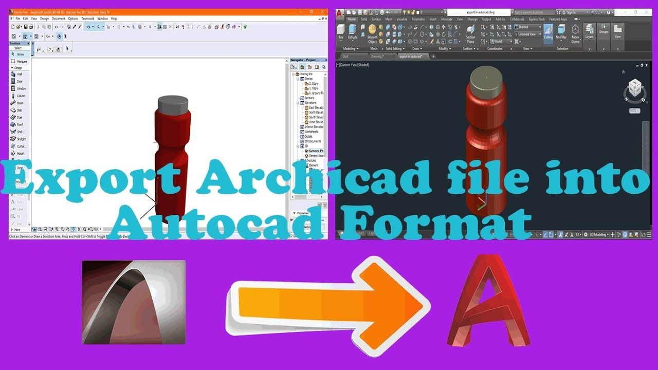 Archicad Tutorial Needful Tutorial To Export Of Archicad File