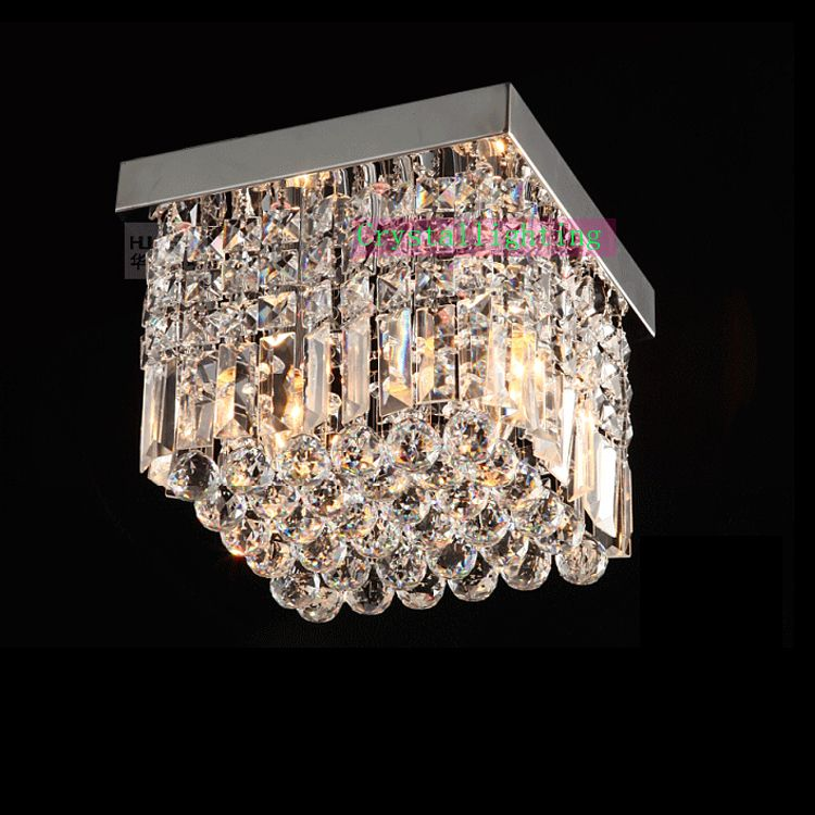 contemporary Crystal Flush Mount, crystal ceiling lighting ...:contemporary Crystal Flush Mount, crystal ceiling lighting, Elegant Lighting  square crystal lamp modern polish,Lighting