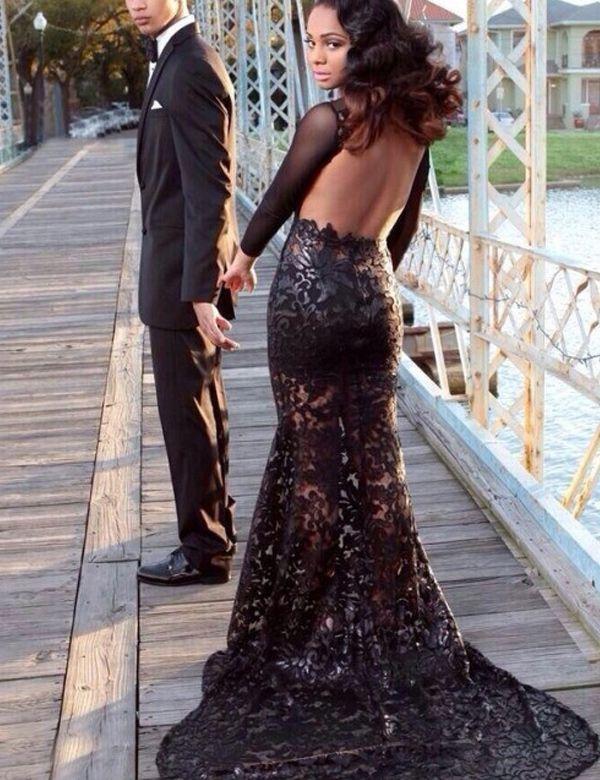 Black Train Dresses