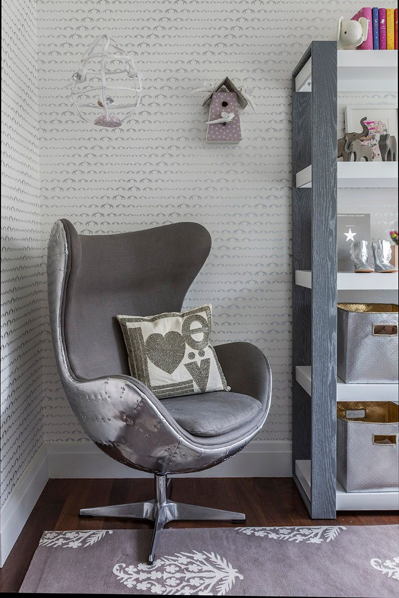 Hermione's Purple and Silver Elephant Nursery Baby room