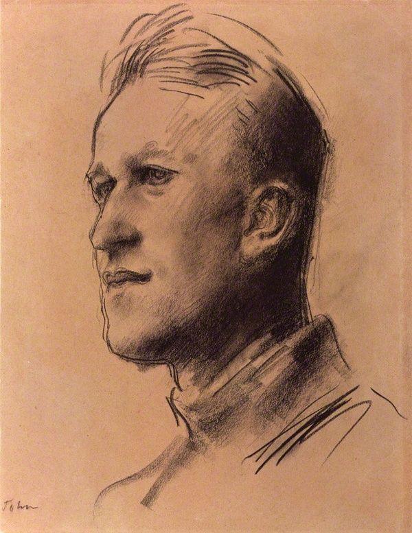 Augustus Edwin John : T. E. Lawrence. Carvão s/ papel, 1929